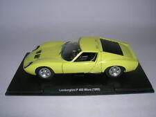 Atlas FABBRI Lamborghini P 400 Miura Año Fabricación modelo 1968 amarillo, 1:24