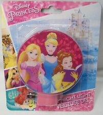 DISNEY PRINCESS CINDERELLA BELLE RAPUNZEL LED NIGHT LIGHT! ON/OFF & ROTARY SHADE