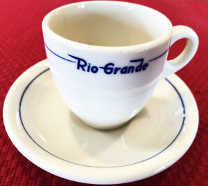"Denver & Rio Grande ""Prospector"" Pattern China Demitasse Cup & Saucer. RR Marked"