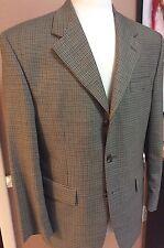 "Ralph Lauren Chaps""A New Stylish Khaki Mini Houndstooth Sport Coat 40S 100% Wool"