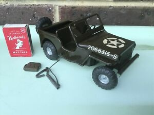 Triang Minic Tinplate Clockwork US Army Jeep Vintage Toys  Circa 1950's - 1960's