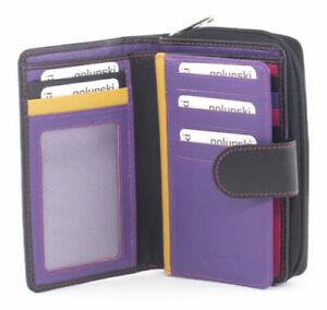 Golunski leather tab purse Style 886 Vintage 51 range Colour Various RFID New