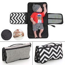Baby Travel Easy Folding Diaper Changing Pad Waterproof Mat Bag Storage New