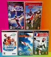 ATV Soccer Bigs Baseball Tennis Wipeout - Sony PSP Game Playstation Portable Lot