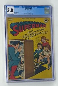 SUPERMAN #39 DC Comics 1946 CGC 3.0