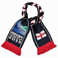 SPORTFOLIO officielles Rugby Coupe du monde 2015 Drapeau Angleterre Tricot écharpe BLEU MARINE BNWT