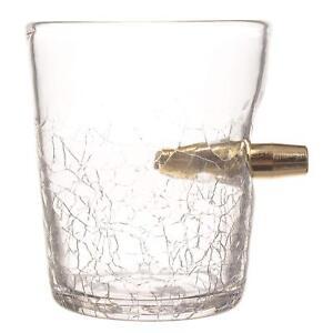 Novelty Tumbler Spirit Shot In Glass Single Bullet Tasting Whiskey Brandy 300ml