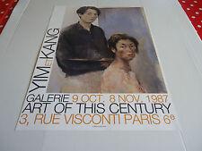 AFFICHE YIM  KANG.1987.GALERIE ART OF THIS CENTURY.PARIS VIème