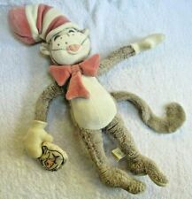"""The Cat in the Hat 16"""" Plush Dr. Seus My Natural Stuffed Beige/Pink Toy, Used"""