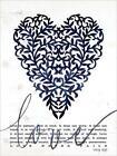 Art Print, Framed or Plaque by Cindy Jacobs - Love Never Fails Navy - CIN1319