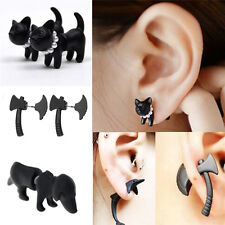 New 3D Stereoscopic Black Animal Impalement Men and Women Ear Stud Earring LI
