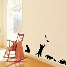 Black Cat Play Wall Sticker Living Room Decoration Removable Decal Mural Art