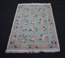 Antique Handmade Wool Cotton Floral Designer Kilim 3x5 Feet Area Rug