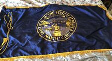 New listing Nebraska State Poly Nylon 3 X 5 1/2 With Gold Fringe Flag 3'x5' And Gold Cord