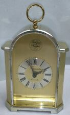 Tempus Fugite Gold Mantle Carraige Clock Timemaster West Germany