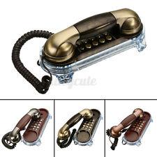 Retro Antique Wall Mount Phone Wired Cored Landline Telephones Desk Decoration