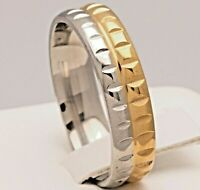 6mm Stainless Steel Mens & Womens Wedding Band - Silver & Gold Ring Size M to X