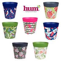 Hum Flowerpots Plant Pots Colorful Indoor/Outdoor Planters - 22cm x 22cm