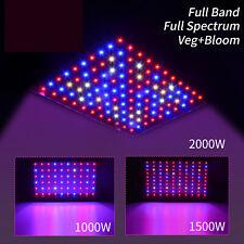 2000W 1500W 1000W LED Grow Light Full Spectrum VEG&Bloom Dual Switch Hydroponics