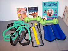 EXERCISE EQUIPMENT Lot Bands, DVDs, Dumbbells, Ankle Weights, ALL NEW