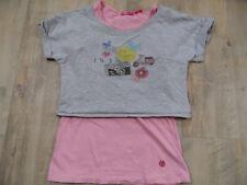 CAKEWALK schönes Doppelshirt rosa grau mit Druck Gr. 134/140 TOP BI418