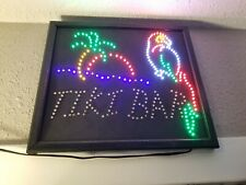 New listing Tiki Bar Parrot Palm Tree Neon Lamp Sign