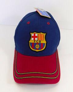 FC BARCELONA Logo HAT FCB Adjustable Cap Futbol Soccer by RhinoX C1E12 ADULT NEW