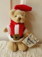 Ganz Wee Bear Village Santa Plush Christmas Miniature Teddy Bear 1995 Stuffed