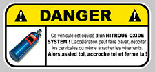 NOS NITROUS OXIDE OXYDE DANGER DRIFT JDM AUTOCOLLANT STICKER 12cmX5,5cm (DA123)