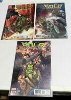 Solo The One-Man War on Terror comics #s 1 - 2 - 3 - Marvel - Excellent unread