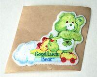 VTG Green Good Luck Care Bear NOS Cartoon Show Cloth Sticker Patch Vending Prize