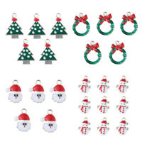 9 kinds Of XMS Christmas Enamel Charm 20PCS Beads Pendant Snowman/Tree/Santa