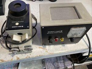 Bausch & Lomb 33-86-35 Monochromator B&L Light Source Housing + The Power Supply