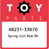 48231-33670 Toyota Spring, coil, rear rh 4823133670, New Genuine OEM Part