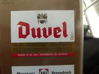 VINTAGE BELGIUM BEER LABEL. MOORTGAT BREWERY - DUVEL 33 CL #2