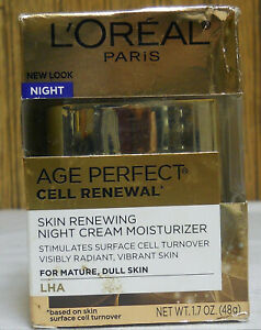 L'Oreal Age Perfect Cell Renewal Night Cream Moisturizer Mature Skin    (New)