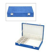 Blue Velvety Jewelry Organizer Box Storage Scratch Anti- Tarnish Lining