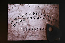 Ouija board game & Planchette. Spirit Hunt. Pagan Symbols Bizarre Old EVP Spooky