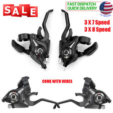 For Shimano ST-EF51 GEAR Combo 3X7 21 Speed Set Shifter Brake Lever Black USA