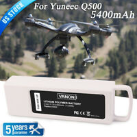 5400mah 11.1v 3s Lipo Flight Battery for Yuneec Q500 4k Typhoon RC Quadcopter US