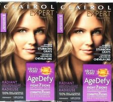 2 Clairol 8A Medium Ash Blonde Expert Collection Nice'n Easy Age Defy Permanent
