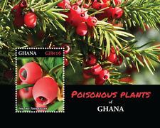 GHANA - 2016 - POISONOUS PLANTS OF GHANA STAMP SOUVENIR SHEET MNH