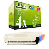 4x MWT Eco Cartuccia Per OKI C-5950-DTN C-5850-N MC-560-N C-5850-DN C-5950-DN
