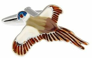 Pheasant Bird in Flight Water Colour Shooting Game Keeper Gift CUFFLINKS DIRECT
