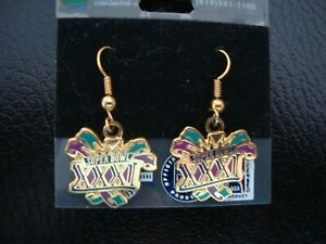 Superbowl XXXI Drop Earrings NEW