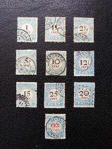 Netherlands #J3-7, J8a, J9 faulty, J10-11, J12b,   Scott Catalog Value $ 126.00