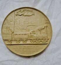 Médaille en plâtre train 52 mm.