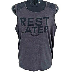 LORNA JANE LIFE women's size M activewear tank singlet mesh grey gym CrossFit
