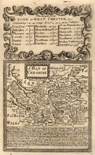 'A Map of Che-Shire'. County map by J. OWEN & E. BOWEN. Cheshire 1753 old