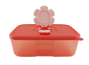 Tupperware Peach Tissue Clean Up Container Box 1.5L Limited Release